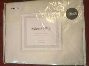 Peacock Alley 400 TC Cotton Sateen King Sheet Set in Ivory - New