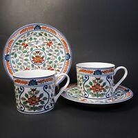 Georges Briard IMARI BLOSSOMS Cup & Saucer Sets 2