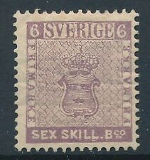 [6059] Sweden 1855 very fine MH reprint. Value $440. Perforation 13