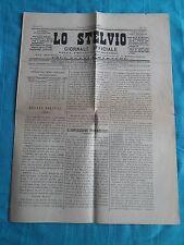 LO STELVIO - GIORNALE UFFICIALE DELLA PROVINCIA DI SONDRIO -  9 Dicembre 1873