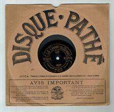 78T à SAPHIR 23cm Mr WEBER Baryton Disque Phonographe CHANT DEPART - ASPIR 10027