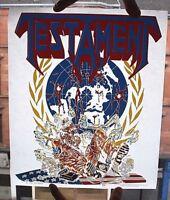 TESTAMENT Original VTG 1990 Heat/Iron On Transfer
