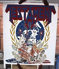 TESTAMENT Original VTG 1990 Heat/Iron On Transfer(not shirt lp tour patch badge)