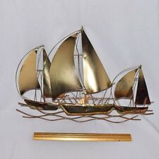 Lovely Wall Mount Sailing Ships Cut from Tin/Metal