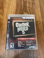 Guitar Hero 5 (Sony PlayStation 3, 2009) Complete CIB