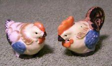 Vintage 1940's Cute Ceramic CHICKEN SALT & PEPPER SHAKERS