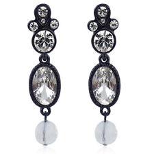 Ohrringe mit Kristallen von Swarovski® Schwarz Weiß NOBEL SCHMUCK