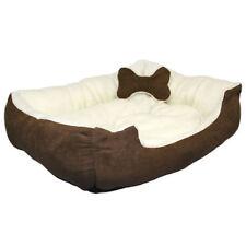 Corbeille/panier/lit beige pour chien