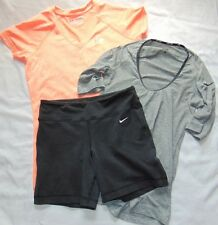 Womens Summer Lot (3) NIKE Pro COMBAT & UNDER ARMOUR Shorts & Shirts Sz XS