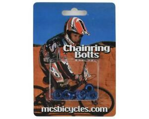 MCS ALLOY CHAINRING BOLT FOR SINGLE CHAINRING BMX BLUE