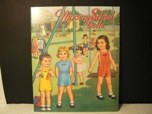 """Paper Dolls, """"Nursery School Dolls"""" 1985, Uncut Mint"""
