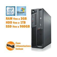 PC DESKTOP COMPUTER FISSO LENOVO THINKCENTRE M90P SFF i5 660 WINDOWS XP PRO-