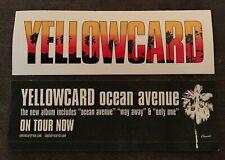 Yellowcard Ocean Avenue Sticker Official Promo 2003 Punk Emo