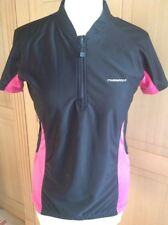 GREAT MUDDY FOX BLACK/PINK SHORT SLEEVE RUNNING TOP UK SIZE 12 NWOT