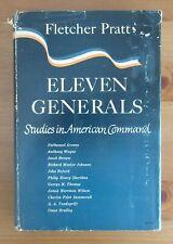 rare Military Generalship 1947 book Eleven Generals Fletcher Pratt