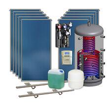 Thermische Solaranlage 10 Kollektoren 1000 l Hygienespeicher Solarpaket Komplett