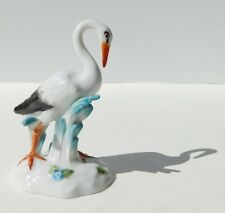 Meissen Porcelain White Stork Storch Bird Figurine Hand Painted 77232 (209B)
