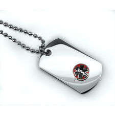 Mini Medical ID Dog Tag with Raised Emblem. Free Wallet Card! Free engraving!