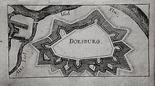Doesburg Niederlande Holland echter alter   Riegel Kupferstich 1690