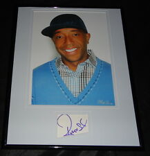 Russell Simmons Signed Framed 11x14 Photo Display AW Def Jam Phat Farm