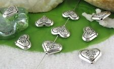 30pcs Tibetan silver flower heart spacer beads FC10616