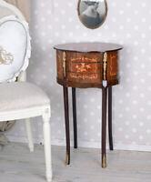 BAROCK KOMMODE WANDTISCH Intarsien Möbel KONSOLE BEISTELLTISCH Holzkommode Antik