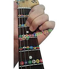 Nota melodía nueva escala eléctrico diapasón de la guitarra acústica pegatina