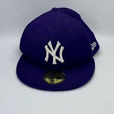 NY Yankees New Era 59FIFTY Baseball Cap - Genuine Merchandise - Purple - 7 1/4