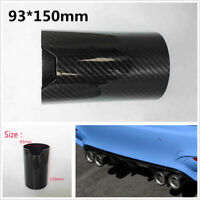 """3.7*5.9"""" Universal Durable Car Exhaust Muffler Pipe Tip Carbon Fiber Cover Shell"""