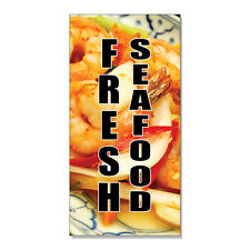 Fresh Seafood Restaurant Food Bar  DECAL STICKER Retail Store Sign