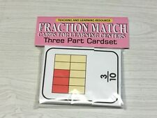 Fractions Match - Cards for Learning Center - Three Part Card set - Montessori