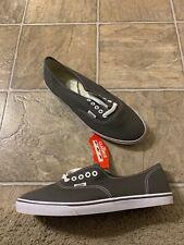 VANS Authentic Lo Pro Skate Shoes Pewter / True White Men's Size 9 Women's 10.5