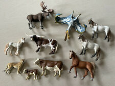 Lot Of 10 Schleich Horses Cows And More