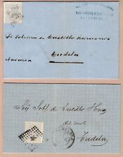 Spain 1879 Folded Letters (2) both addressed to Tudela