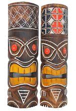 2 Tiki Masks 50cm Wooden Mask Tiki 2er Set Mask Masks Hawaii Tribal Wall Masks
