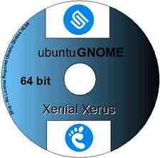16.04.2 Ubuntu GNOME xenial Xerus Linux OS 64 bits DVD Inc LibreOffice & Firefox