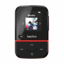 SanDisk 32GB Clip Sport Go MP3 Player Red - LED Screen and FM Radio - SDMX30-...