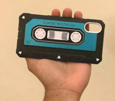 Vintage Cassette Tape iPhone Case for XS and X Blue