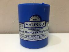 1 ROLL of .015 MALIN AVIATION S/S AIRCRAFT SAFETY WIRE 1lb ea.   with 8130 certs