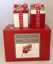 Charter Club Grand Buffet Tartan Plaid Salt & Pepper Shakers Set Christmas Gift