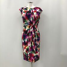 Phase Eight Vestido Lápiz para Mujer Reino Unido 12 Multicolor Midi Manga Corta 031046