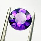 Round Brilliant Cut Natural Amethyst Loose Gemstone - Light to Dark Color Purple