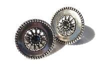 Bijou alliage argenté bague Scooter cristal blanc ou bleu taille 52 ring