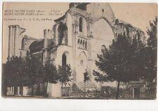 Mont Notre Dame Aisne Eglise Vintage Postcard France 695a