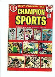 Champion Sports 1 VG/F 5.5 Bronze Age