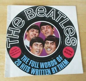 The Beatles Song Book, Given with Fabulous mag, 20 full words of beatles songs