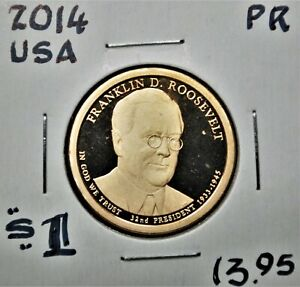 Franklin D. Roosevelt - 2014-s United States Presidential Proof Dollar