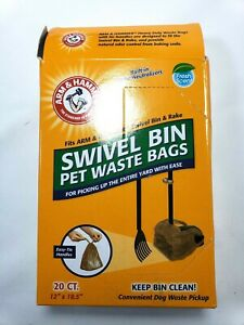 Arm & Hammer Swivel Bin Waste Bags, 20 Count, 1 Pack
