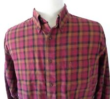Pendleton Canterbury Cloth Large Shirt Wool Cotton Blend Plaid Multi Color LS