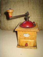 Wooden Vintage Manual Coffee Grinder Bean Grinding Machine Hand Burr Mill